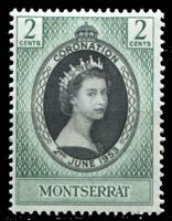 Image de Монтсеррат 1953 г. Gb# 136 • Коронация Елизаветы II • 2c. • MNH OG XF
