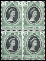 Bild von Монтсеррат 1953 г. Gb# 136 • Коронация Елизаветы II • 2c. • MNH OG XF • кв.блок