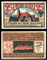 Image de Германия •  Биттерфельд 1921 г. • 25 пфеннигов • Пожар 1473 года • локальный выпуск • UNC-