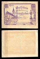 Изображение Австрия •  Штайнакирхен-ам-Форст 1922 г. • 10 геллеров • Памятник на центральной площади • локальный выпуск • AU