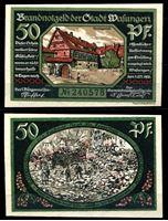 Изображение Германия •  Швалунген 1921 г. • 50 пфеннигов • борьба с городским пожаром • локальный выпуск • UNC пресс