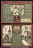 Изображение Германия •  Земмерда 1921 г. • 25 пфеннигов • армейские сценки • локальный выпуск • UNC пресс