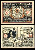 Image de Германия •  Вайсенфельс 1921 г. • 50 пфеннигов • магазин женской обуви • локальный выпуск • UNC пресс