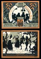 Picture of Германия •  Грюнберг 1922 г. • 50 пфеннигов • застолье и танцы • локальный выпуск • UNC-