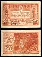 Изображение Германия •  Леопольдшалле 1921 г. • 25 пфеннигов • вагонетки с углем в шахте • локальный выпуск • UNC пресс