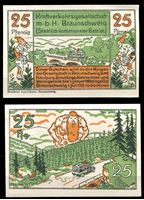 Picture of Германия •  Брауншвейг 1921 г. • 25 пфеннигов • местный великан • локальный выпуск • UNC пресс