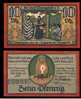 Изображение Германия •  Вернигероде 1921 г. • 10 пфеннигов • сова со свечой • локальный выпуск • UNC пресс