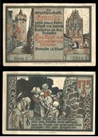Bild von Германия •  Гранзее 1921 г. • 1.75 марки • Городские башни • локальный выпуск • UNC пресс