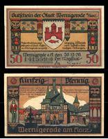 Picture of Германия •  Вернигероде 1920 г. • 50 пфеннигов • Центральная площадь • локальный выпуск • UNC пресс