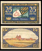 Изображение Германия •  Брена 1921 г. • 25 пфеннигов • Вид города с полей • локальный выпуск • UNC пресс