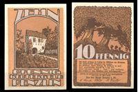 Изображение Германия •  Пенцлин 1922 г. • 10 пфеннигов • Дубовая аллея • локальный выпуск • UNC пресс