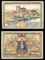 Изображение Германия •  Варта 1921 г. • 25 пфеннигов • вид на городской собор • локальный выпуск • UNC пресс