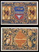 Изображение Германия •  Притц 1921 г. • 50 пфеннигов • сапожник и пекарь • локальный выпуск • UNC пресс