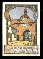 Изображение Германия •  Бад-Зоден 1921 г. • 50 пфеннигов • городская ратуша • локальный выпуск • UNC пресс