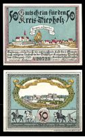 Изображение Германия •  Дипхольц 1921 г. • 50 пфеннигов • виды города • локальный выпуск • UNC пресс