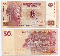 Изображение Конго 2007 г. • 50 франков • регулярный выпуск • UNC пресс