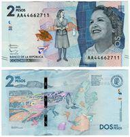 Изображение Колумбия 2015 г. • 2 000 песо • регулярный выпуск • UNC пресс