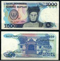 Image de Индонезия 1987 г. P# 124 • 1000 рупий • раджа Сисингамангараджа XII • регулярный выпуск • UNC