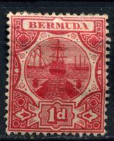 Изображение Бермуды 1910-1925 гг. Gb# 46 • 1d. • парусник • MH OG VF ( кат.- £20 )