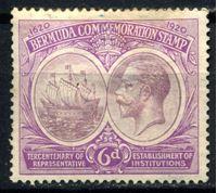 Изображение Бермуды 1920-1921 гг. Gb# 67 • 6d. • 300-летие Губернаторства • MLH OG F ( кат.- £30 )