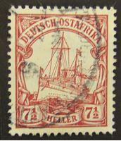 """Изображение Германская Восточная Африка 1905 г. Mi# 32 • 7 1/2 геллера • Яхта """"Гинденбург"""" • Used XF"""