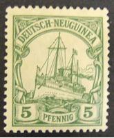 """Изображение Германская Новая Гвинея 1914 г. Mi# 21 • 5 пф. • Яхта """"Гинденбург"""" • MLH OG XF"""