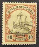 """Изображение Германская Новая Гвинея 1900 г. Mi# 13 • 40 пф. • Яхта """"Гинденбург"""" • MLH OG XF"""