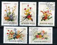 Picture of Венгрия 1989 г. SC# 3173-7 • цветы (букеты) • Used(ФГ) XF • полн. серия