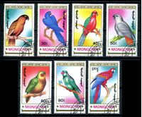 Picture of Монголия 1990 г. SC# 1896-1902 • птицы (попугаи) • Used(ФГ) XF • полн. серия