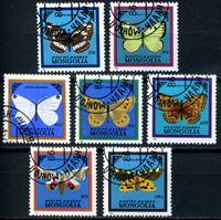 Picture of Монголия 1986 г. SC# 1521-7 • бабочки • Used(ФГ) XF • полн. серия