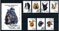 Picture of Мадагаскар 1991 г. SC# 1003A-H • собаки • Used(ФГ) XF • полн. серия+блок