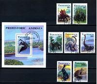 Picture of Танзания 1991 г. SC# 759-66 • динозавры • Used(ФГ) XF • полн. серия+блок ( кат.- $11 )