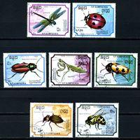 Picture of Камбоджа 1988 г. SC# 891-7 • насекомые • Used(ФГ) XF • полн. серия