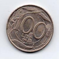 Изображение Италия 1994 г. • 100 лир • регулярный выпуск