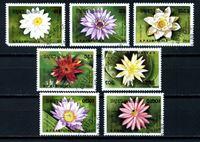 Picture of Камбоджа 1989 г. SC# 954-60 • цветы • Used(ФГ) VF • полн. серия+блок