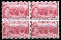 Image de Монтсеррат 1953-62 гг. Gb# 140 • Елизавета II основной выпуск • 4c. • уборка томатов • MNH OG XF • кв.блок
