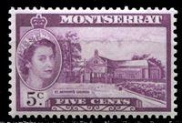 Image de Монтсеррат 1953-62 гг. Gb# 141 • Елизавета II основной выпуск • 5c. • церковь св. Антония • MNH OG XF