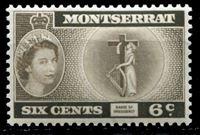 Image de Монтсеррат 1953-62 гг. Gb# 142 • Елизавета II основной выпуск • 6c. • Символ государственности • MNH OG XF