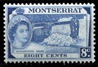 Image de Монтсеррат 1953-62 гг. Gb# 143 • Елизавета II основной выпуск • 8c. • обработка хлопка • MNH OG XF