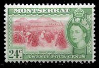 Image de Монтсеррат 1953-62 гг. Gb# 145 • Елизавета II основной выпуск • 24c. • уборка томатов • MNH OG XF