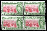 Image de Монтсеррат 1953-62 гг. Gb# 145 • Елизавета II основной выпуск • 24c. • уборка томатов • MNH OG XF • кв.блок