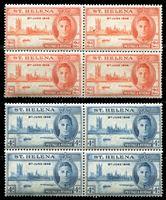 Image de Святой Елены о-в 1946 г. Gb# 141-2 • выпуск Победы • MNH OG XF • кв. блоки