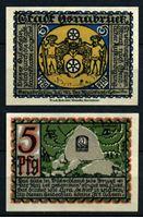 Изображение Германия •  Оснабрюк 1921 г. • 5 пфеннигов • надгробный камень • локальный выпуск • UNC пресс
