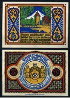Picture of Германия •  Оснабрюк 1921 г. • 50 пфеннигов • башня на озере • локальный выпуск • UNC пресс