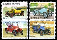 Image de Сан-Томе и Принсипи 1983 г. • 12Db.(4) • старинные автомобили • MNH OG XF