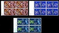 Изображение Великобритания 1961 г. Gb# 626-8 • 2,4 и 10 d. • Европейская почтовая и телекоммуникационная конференция • MNH OG XF • полн. серия•кв. блоки