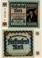 Изображение 1922 г. P# 81 • 5000 марок • UNC-UNC пресс
