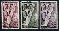 Bild von СССР 1938 г. Сол# 599-601 • Второй перелет СССР-США • Used VF • полн. серия