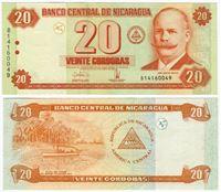 Изображение Никарагуа 2006 г. P# 196 • 20 кордоб • UNC-UNC пресс