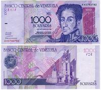 Изображение Венесуэла 1998 г. P# 79 • 1000 боливаров • UNC-UNC пресс